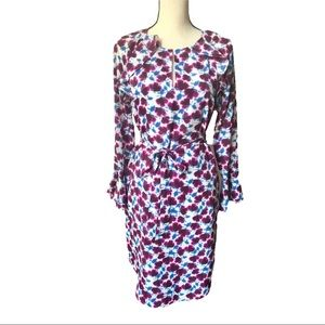 Banana Republic Orchid Flounce Belted Dress